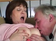 sexy granny doing bj action out in the country