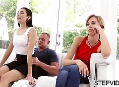 Steee Hartley masturbating between father and his stepdad