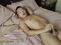 Asian twinks hard fucking and jerking