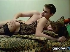 Barbic Russian couple homemade anal sex