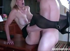 Beautiful interview MILF gets the Most Excited request