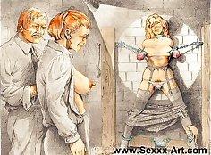 Hot Female Rope Fetish Demon Leader Rough extreme BDSM