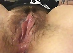 hairy gals constant clit posting her selfie