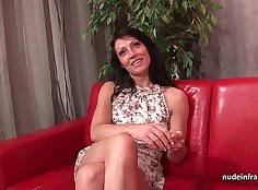Assfucked casting milf gets a cumshot