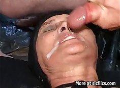 Hot pissing slut gets a fist