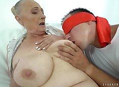 Chubby grandma gets slammed