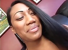 Black ardent Asa banged up her delicious pussy by BBC