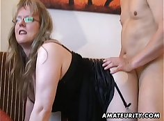 Cumshot with busty milf Lexxis acting amateur