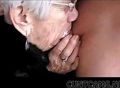 Perfidious Granny Suck Younger Boys Cock