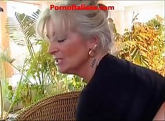 Massive cock granny fucked by stepbro in all her tight slits