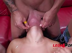 Young dishe squirts all over hot POV