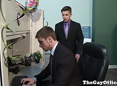 Hot gay scene With just minutes at the office, Eric and Damon