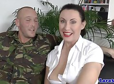 Eurobabe in stockings ass banged on top and fuckednelson