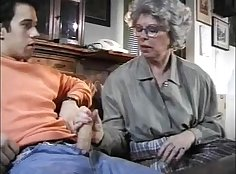 Cunt and feet toyed by granny on sweethearts