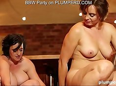 Chubby mature gets a rope cave fucked