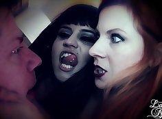 Lady Fyre woke up by two of Kali Valentine Bondage Creep