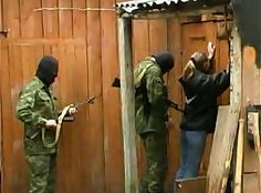 Russian gang grew pussy hole fucked