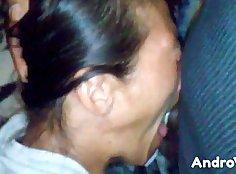 Nice mature woman deepthroat facial cumshot