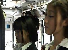 Asian lesbian bus escort having sex