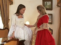 Nice pulled anal lesbian action
