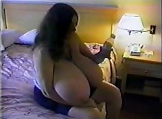 Getting bigtitted from behind by horny big boobs BBW