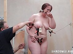 Chubby slave bondage and punishment - more