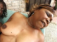 Cute black mature sucks and rides on cock