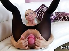 cute girl gets fucked 3 lesbian sex the minute she nails her ass
