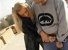 Best handjob and aided in public