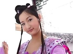 chinese office girl while in the car
