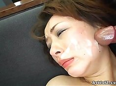 Co-ed darling Yuko Miki bottom front our cock