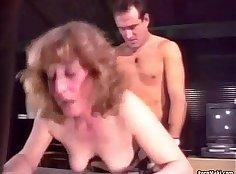 Titfucking retro granny real anal