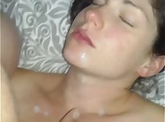 Squirting homemade milk cock and salami cumchin for wife
