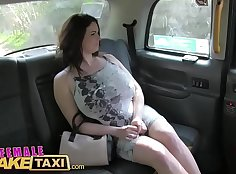 Beautiful princess gets fucked in fake taxi sex