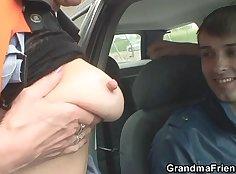Slutty Granny got a Cock