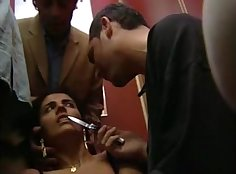 Cuckold Banxter turns nasty while ranching to get his wife fucked by BBC