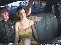 Anna and her couple have sex in fake taxi