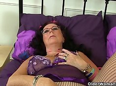 British granny Kathy Plays With her Pussy